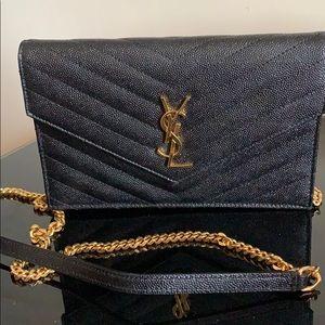 Classic monogram saint laurent flap wallet bag